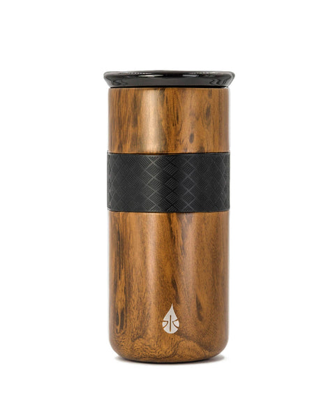 Elemental - 16 oz Teak Wood Tumbler with ceramic lid