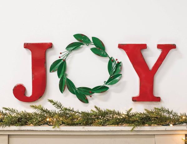 Col House Designs - Joy Wreath Wall Hanging