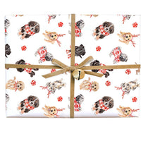 Lana's Shop - Peppermint Puppies Gift Wrap Roll