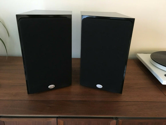 *PAIR* NHT Model 1A / 1 A 2 Way Bookshelf Speakers in Piano Black *Excellent*
