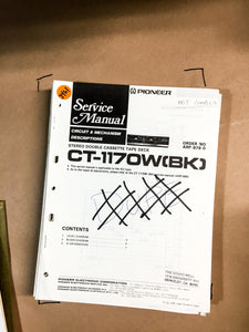 Pioneer CT-117 OW Cassette Service Manual *Original*