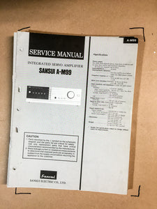 Sansui A-M99 Integrated Amplifier Service Manual *Original*