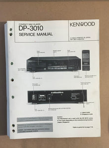 Kenwood DP-3010 CD Player  Service Manual *Original*