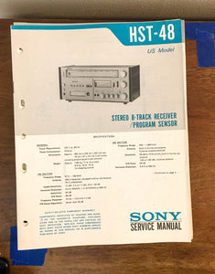 Sony HST-48 Stereo Music System Service Manual *Original*