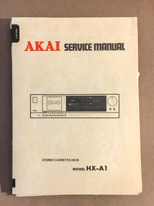Akai HX-A1 Cassette Deck  Service Manual *Original*
