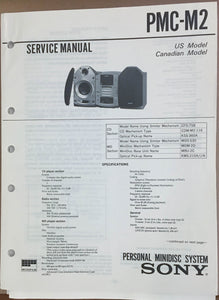 Sony  PMC-M2 Minidisc Stereo Service Manual *Original*