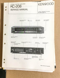 Kenwood KC-208 Preamp / Preamplifier  Service Manual *Original*