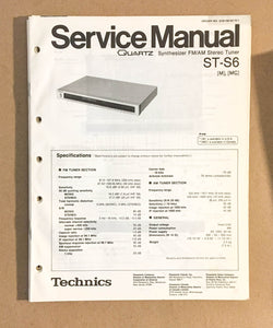 TECHNICS ST-S6 TUNER  Service Manual *Original*