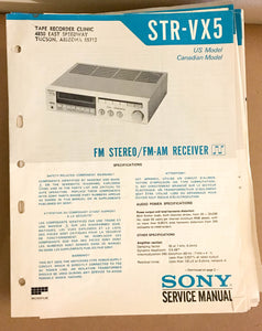 Sony STR-VX5 Receiver  Service Manual *Original*