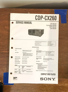 Sony CDP-CX260 CD Player Service Manual *Original*