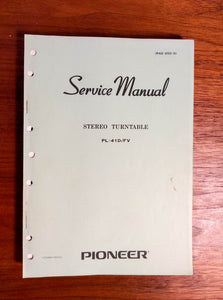 Pioneer PL-41D Turntable Service Manual *Original*