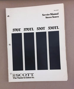 Scott 570T 530T TL Tuner  Service Manual *Original*