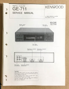 Kenwood GE-711 Equalizer  Service Manual *Original*