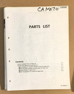 JVC CA-MX70 Amplifier  Service Manual *Original*