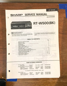 Sony RT-W500 Cassette Service Manual *Original*