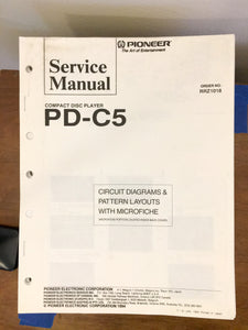 Pioneer PD-C5 CD Player Service Manual *Original*