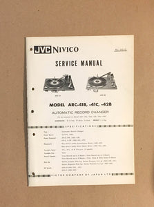 JVC ARC-41B -41C -42B Record Player / Turntable  Service Manual *Original*