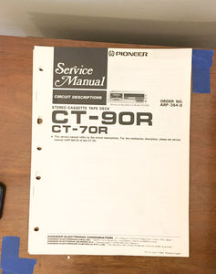 Pioneer CT-90R CT-70R Cassette  Service Manual *Original*