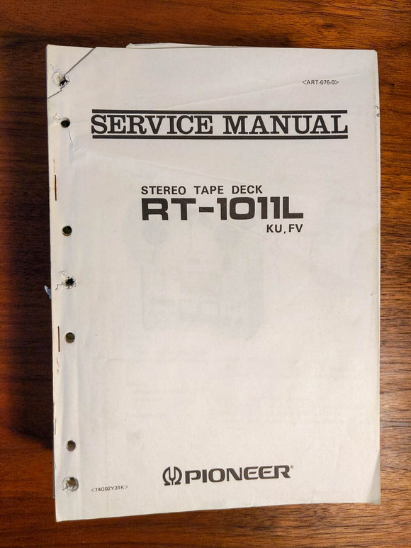 Pioneer RT-1011L Reel to Reel Service Manual *Original*