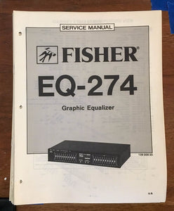 Fisher EQ-274  Service Manual *Original*