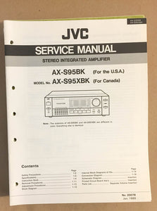 JVC AX-S95 Amplifier  Service Manual Supplement *Original*