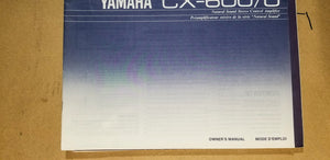 Yamaha CX-600 / U   Owners Manual *Original* #2