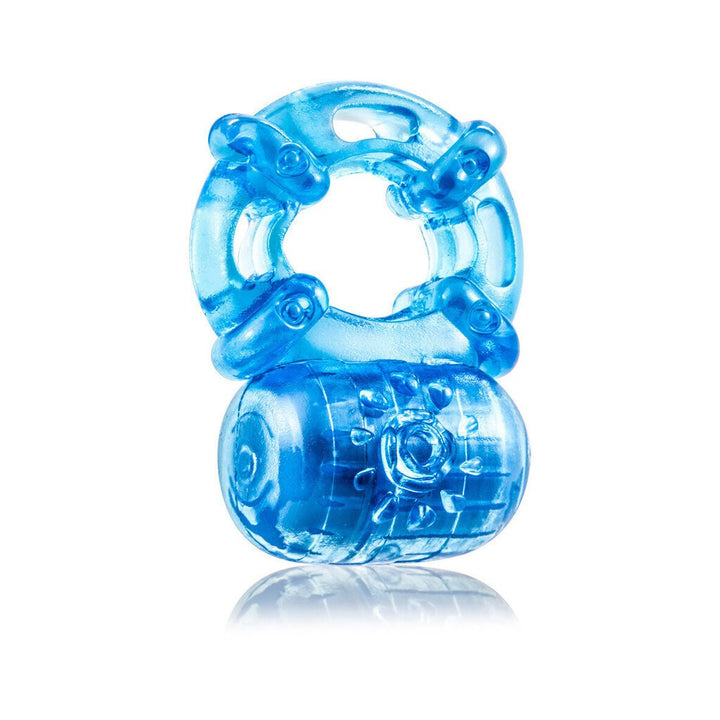 Stay Hard - Reusable 5 Function Cock Ring - Blue