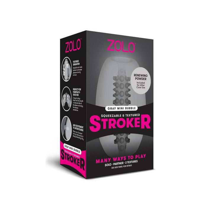 Zolo Gray Mini Bubble Stroker