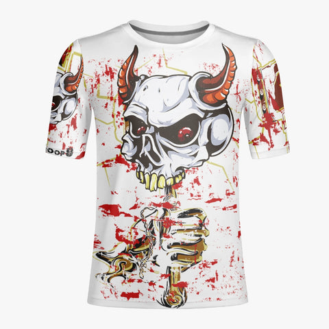 Skull Hammer White - Handmade Men T-shirt