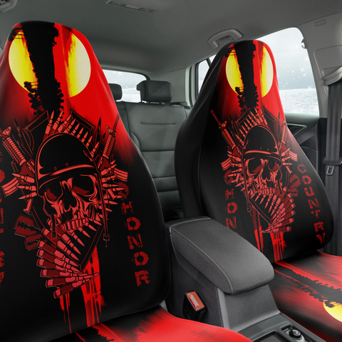 Set of 2 - Skull Hero Car Seat Covers | Universal Fit
