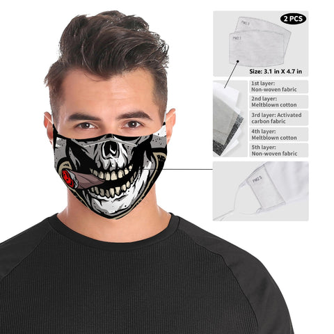 Skull Smoker - Cloth Face Mask For Adults