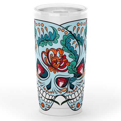 Sugar Skull Tumbler - 20oz Double-walled Stainless Steel