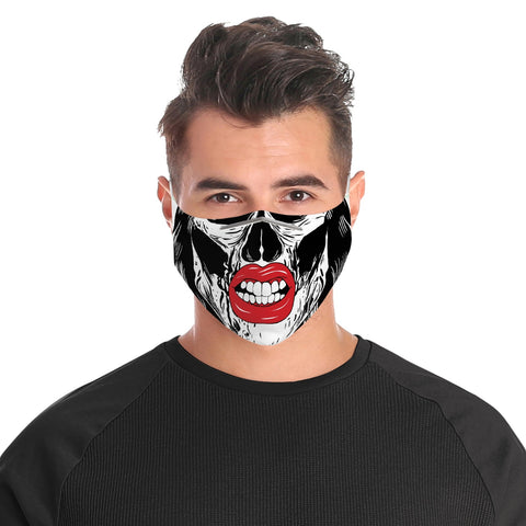 Skull Angry Lips - Cloth Face Mask For Adults