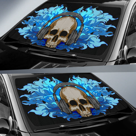 Car Sun Shade - Skull DJ