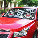 Car Sun Shade - Skull Waiting