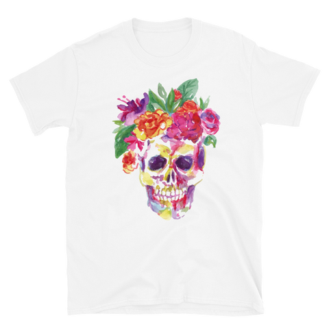 Skull Flowers - Short-Sleeve Unisex T-Shirt