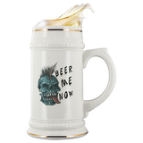 Beer Me Now Skull - 22oz Ceramic Stein