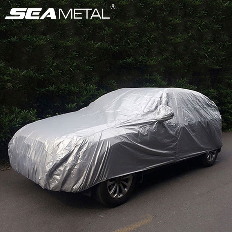 Universal Car Covers Waterproof Outdoor Sun Protection Cover Auto Cover Sun UV Snow Dust Resistant Protection Cover For Sedan