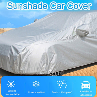 Universal Full Car Covers Windproof Waterproof Snow Auto Shade Cover Light Silver Size M-xl Car Outdoor Protector Auto Covers