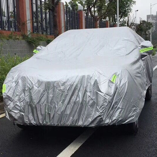 Universal Indoor Outdoor Car Cover Full Sedan Covers with Reflective Strip Sunscreen Protection Dustproof UV Scratch-Resistant
