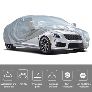 Universal Car Cover Full Cover Outdoor Indoor UV Protection Sunscreen Heat Protection Dustproof Scratch-Resistant Sedan M-XXL