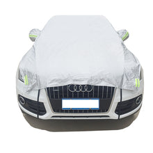 Load image into Gallery viewer, ATL Aluminium Waterproof and UV Resistance Half Car Cover, With Cotton, Sunshade and Snow Defence, Hatchback/Sedan/SUV car