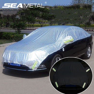 Half Car Cover Window Sunshade Curtain Cars Sun-shade Cover with Luminous Mark Outdoor Waterproof UV Protection Auto Accessories