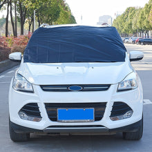 Load image into Gallery viewer, Half Cover Dust Resistant Shield Car Covers Sun Shade PEVA Car Snow Shield Auto Front Windscreen Protector Hook Up