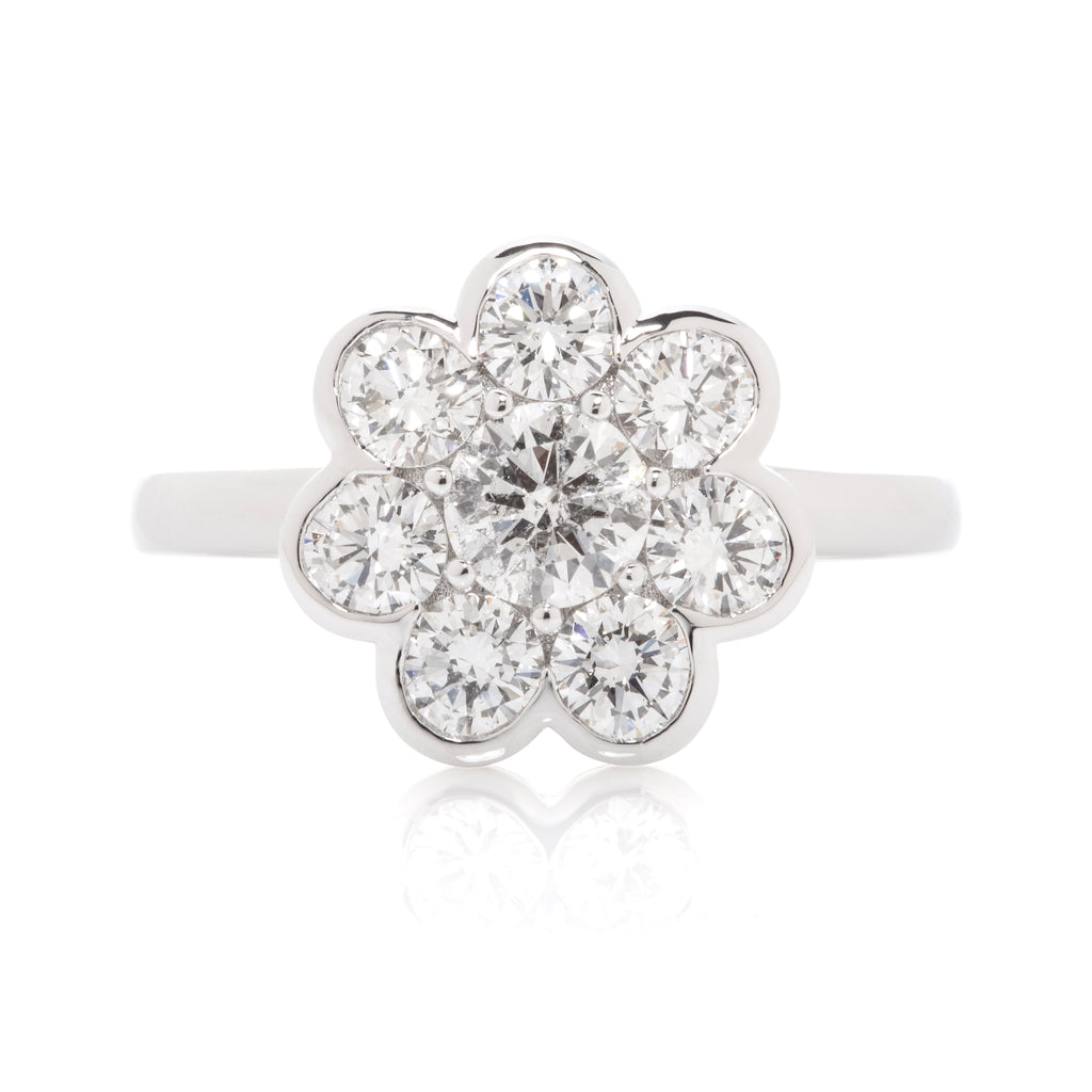 Dreaming Diamond Flower Ring