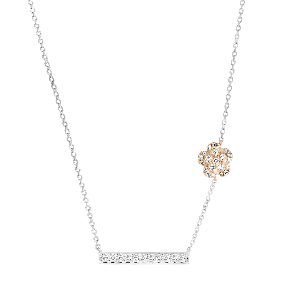 Rosea Floresence Diamond Necklace