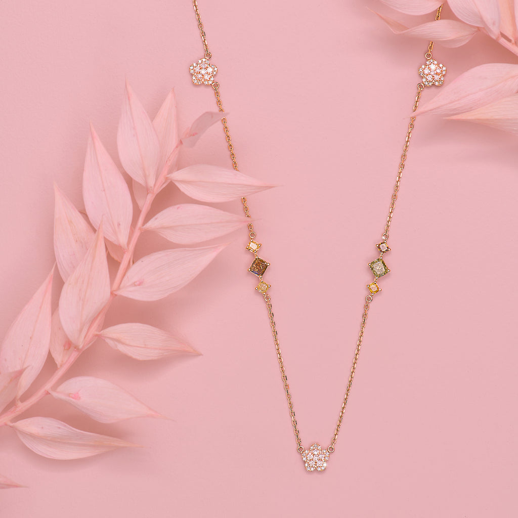 Rosea Peony Chain Necklace