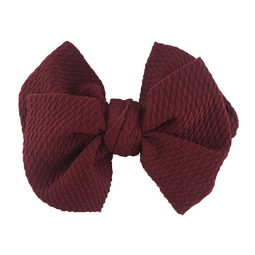 "Wine - 4"" Bullet Fabric Messy Bow"