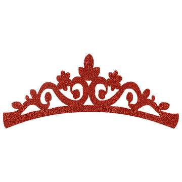 "Red - 7"" Felt & Glitter Crown"