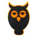 "Black & Orange Owl - 2.75"" Halloween Felt Applique"
